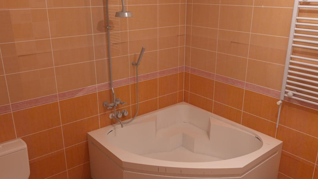 design baie portocaliu alb